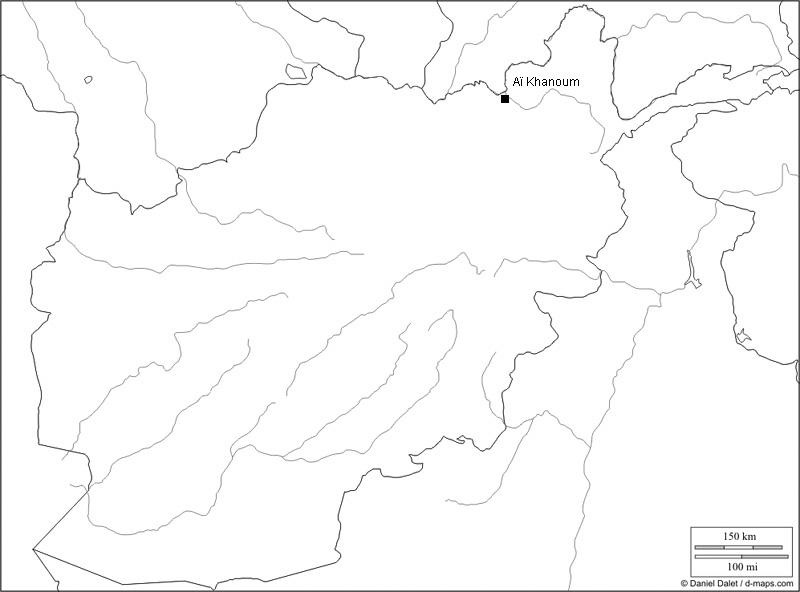 Afghanistan, Karte der antiken Theaterstätten (Karte D. Dalet, Bearbeitung R. Gogräfe)