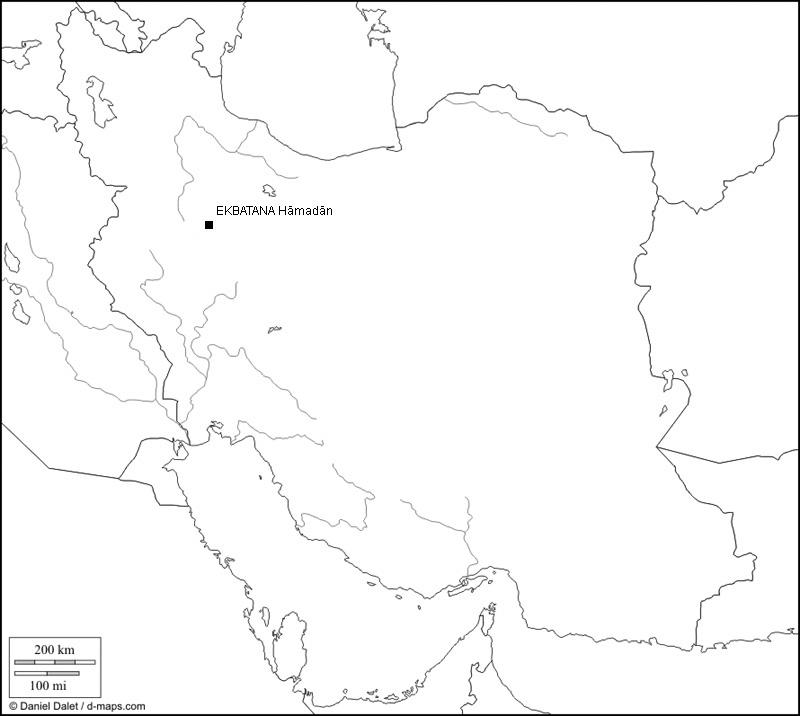 Iran mit Verzeichnis der antiken Theaterstätte (Karte D. Dalet, bearb. Rüdiger Gogräfe)